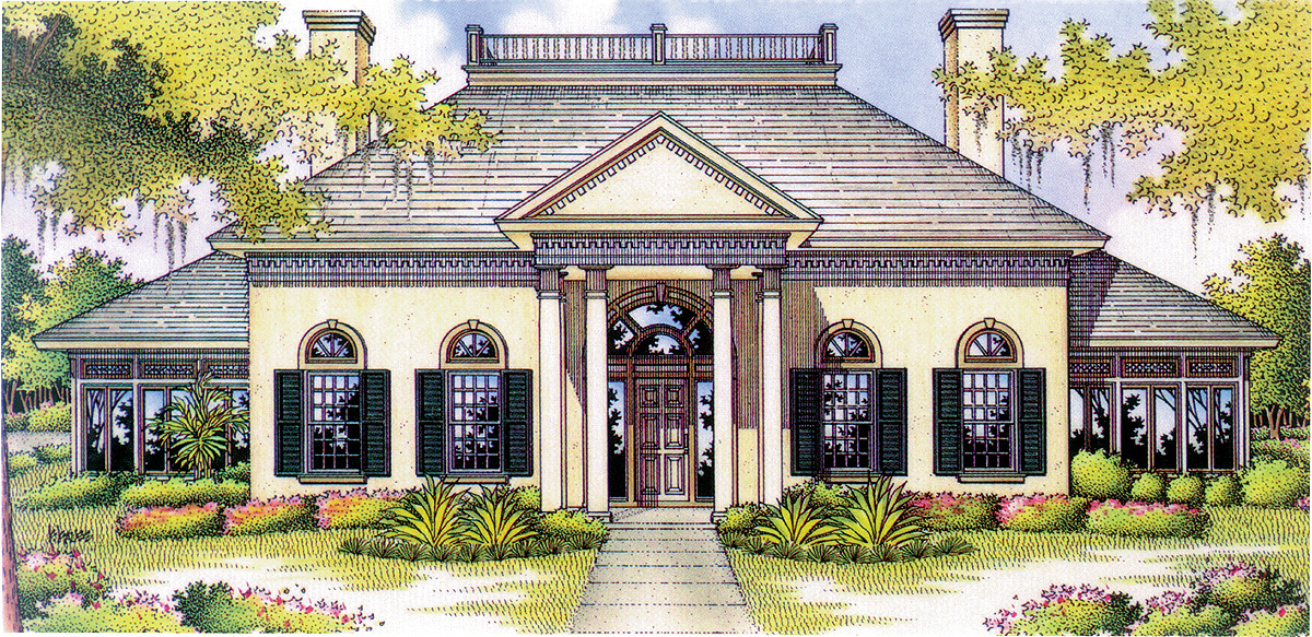 Southern plantation 55035br architectural designs Southern plantation house plans