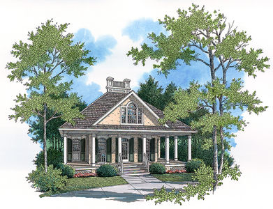 Timeless Facade 55053br Architectural Designs House