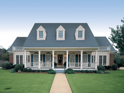 symmetrical creole - 55067br | architectural designs - house plans