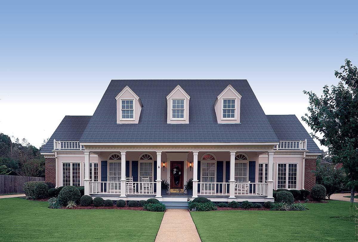 4 Bedroom House Plans Open Floor Front Porches