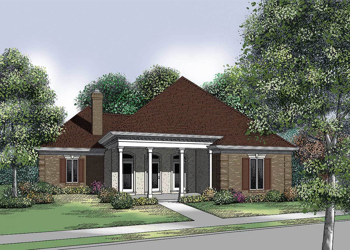 Two garage options 55081br architectural designs for Architecturaldesigns com house plan 56364sm asp