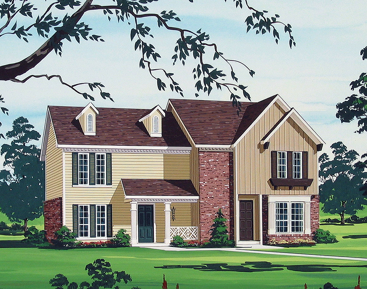 Multi family house plan 55091br 2nd floor master suite for 2 family house plans