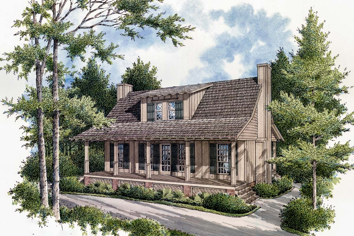 Compact cottage 55109br architectural designs house for Compact cottages