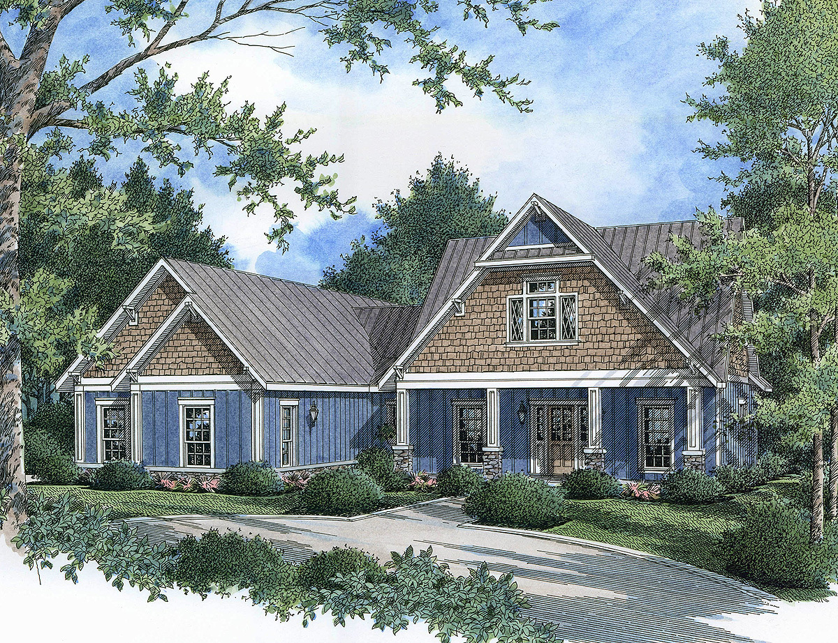 Energy efficient craftsman charmer 55136br for Energy efficient craftsman house plans