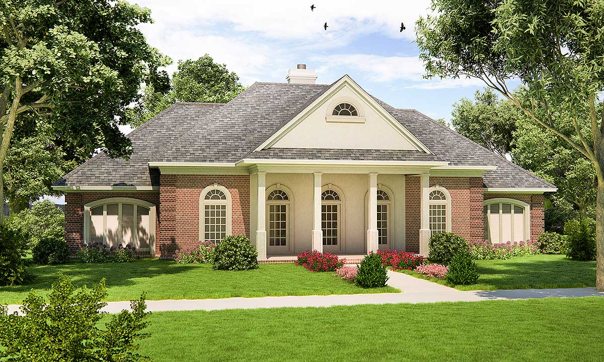 Southern traditional with energy savings 55139br for Traditional southern house plans