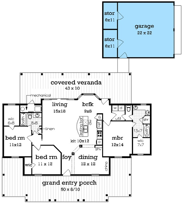 Compact charming house plan 55141br architectural for Charming house plans