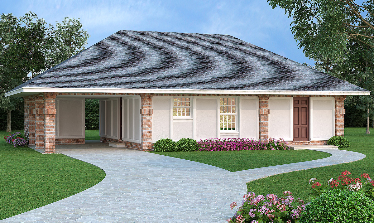 Affordable energy efficient 4 bed home plan 55159br for Cheap efficient homes