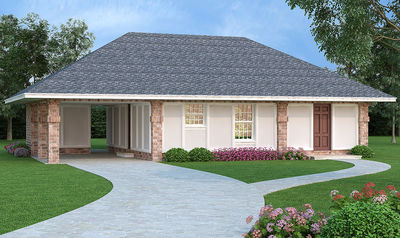 Affordable Energy Efficient 4 Bed Home Plan 55159br