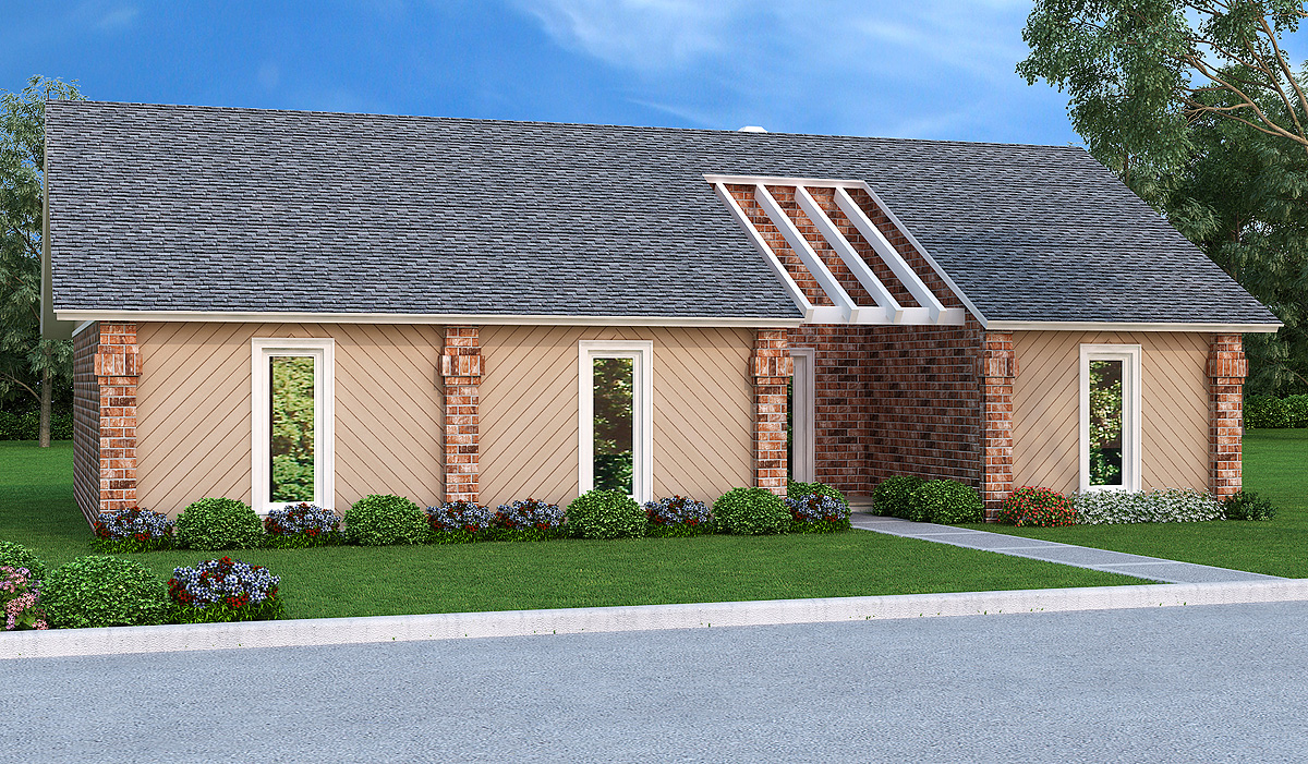 Easy to build 3 bed ranch home plan 55165br for Ranch house plans with cost to build