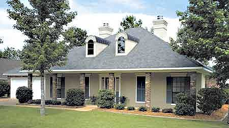 A classic southern home plan 5537br architectural for Classic southern house plans