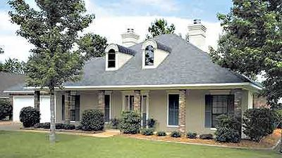 A classic southern home plan 5537br architectural for Old southern house plans