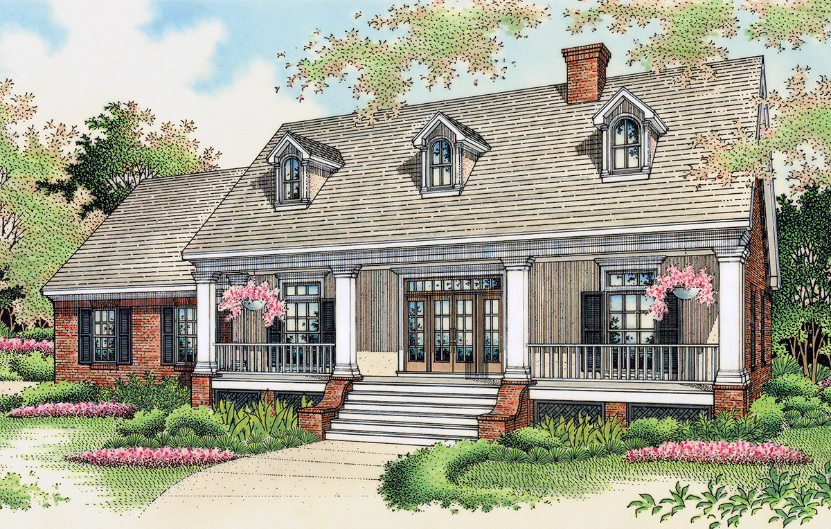 Popular southern design with options 5543br Southern designer house plans