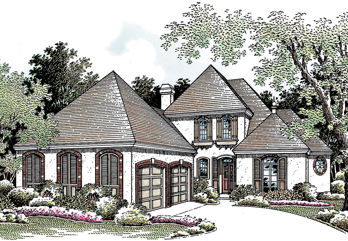 Old world charm 5556br 1st floor master suite cad for Architecturaldesigns com house plan 56364sm asp