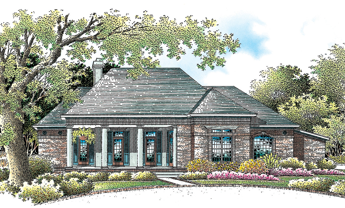 Home office with private entry 5557br architectural for House plans with separate office entrance