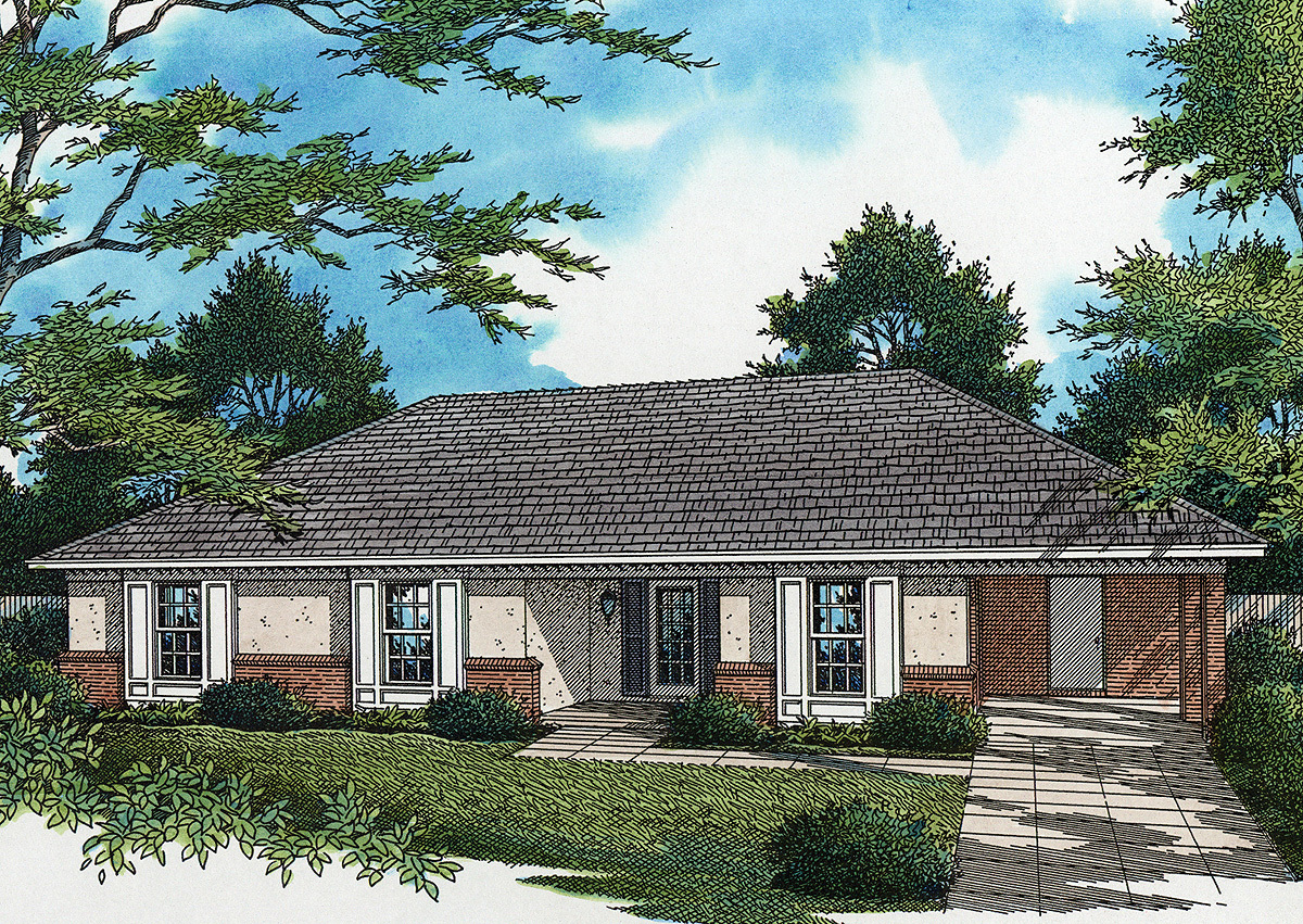 Classic southern starter home 5573br architectural for Classic southern house plans