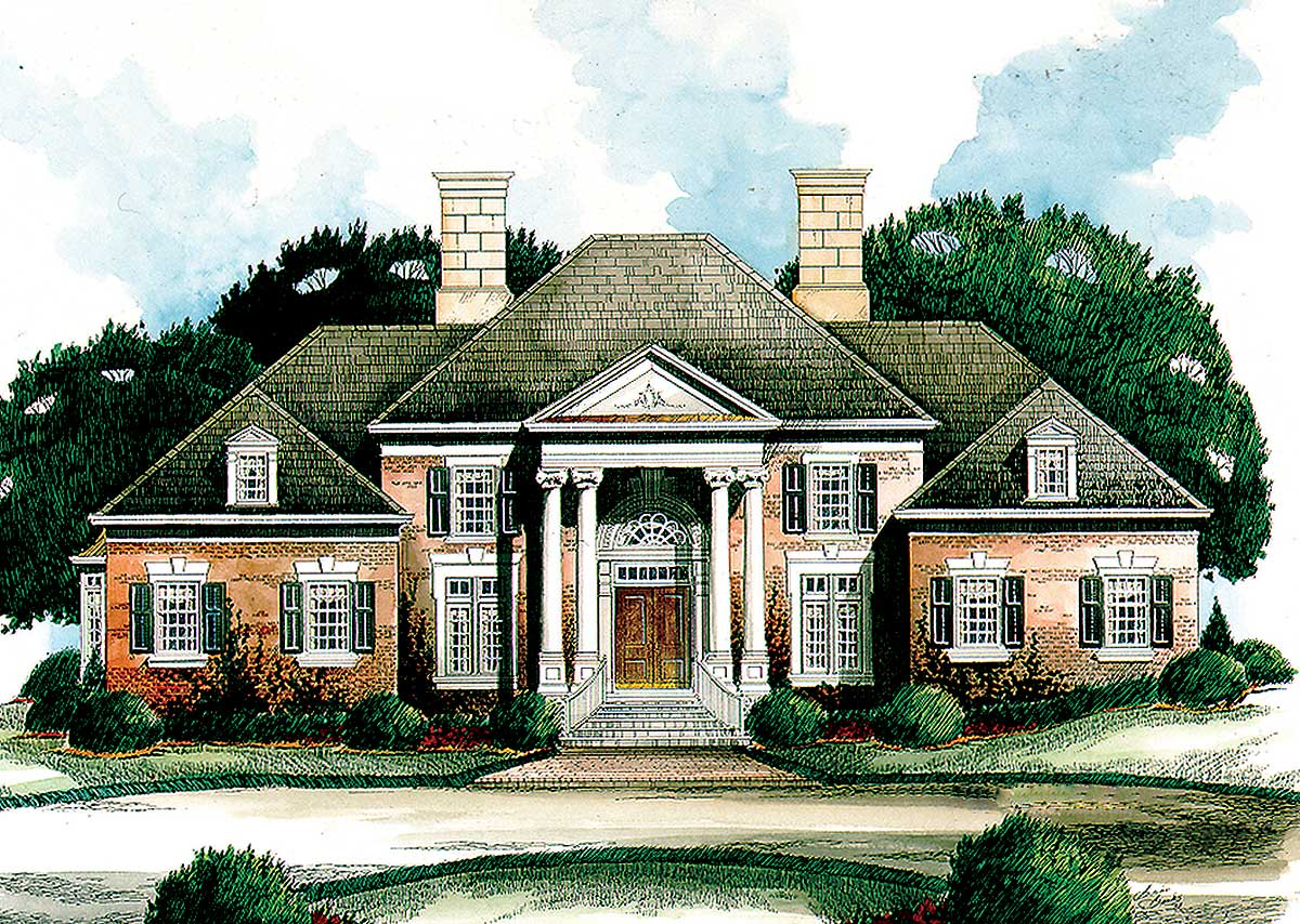Grace and timeless beauty 56101ad architectural for Timeless house plans