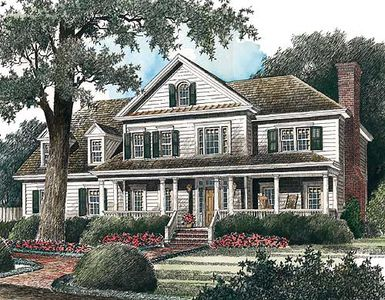 Classic American Country Home 56117AD 2nd Floor Master