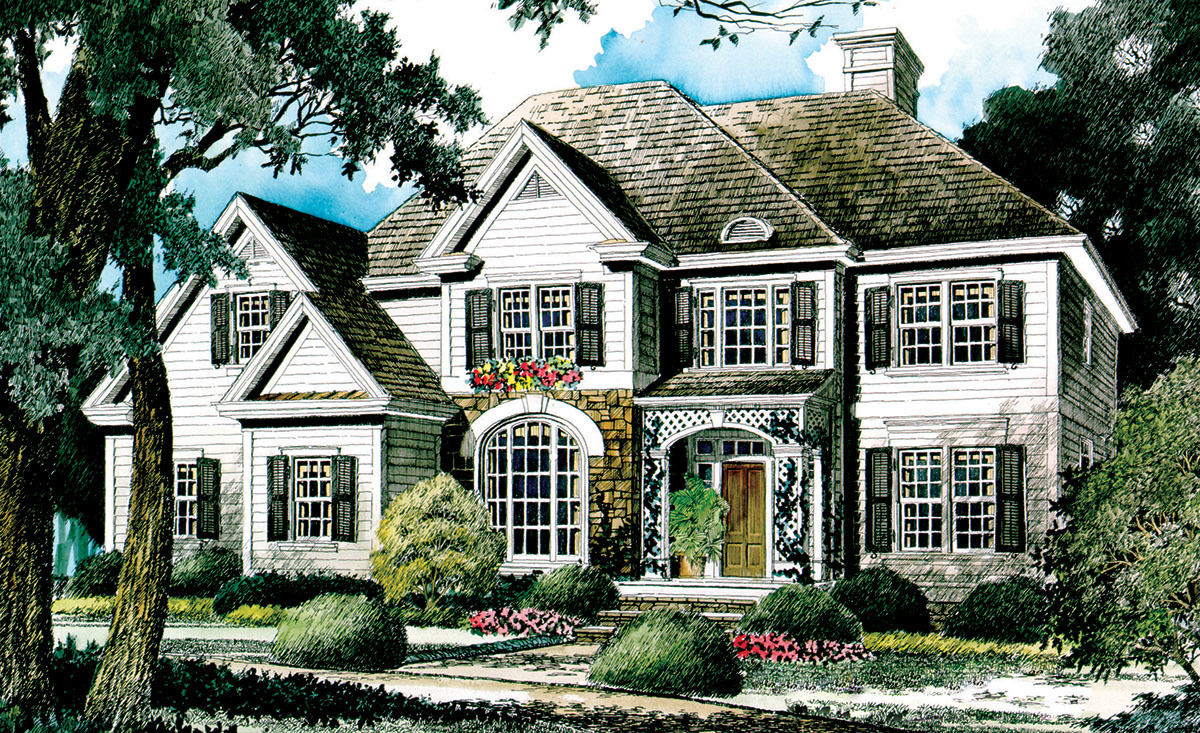 English country home plan 56119ad architectural for English house design