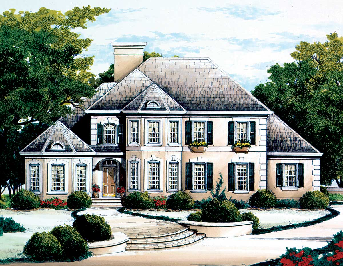 French Country Chateau 56124AD 1st Floor Master Suite