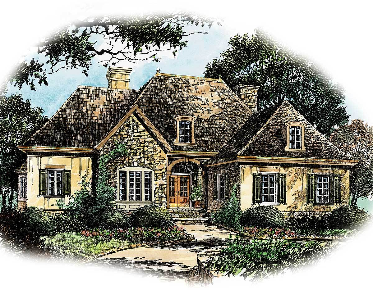 French country charm 56130ad architectural designs for Large french country house plans