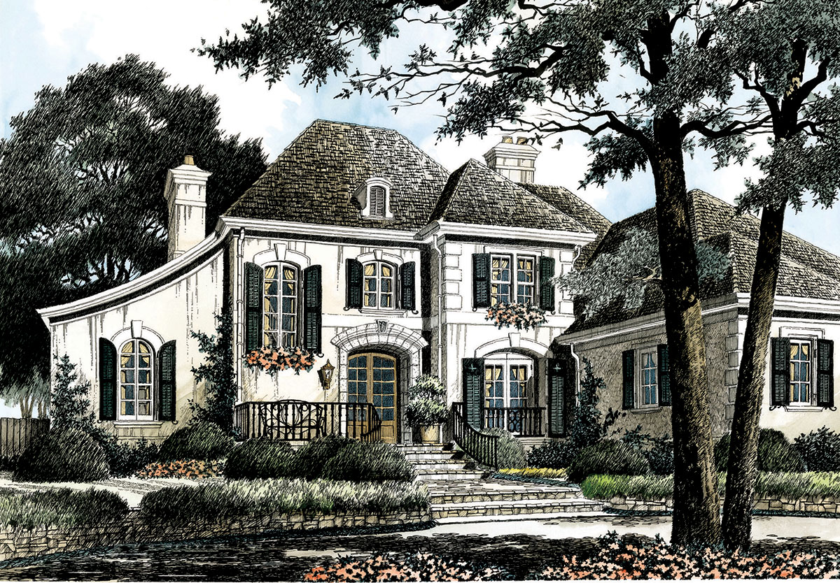 Chateau comfort 56133ad architectural designs house for Chateau home designs