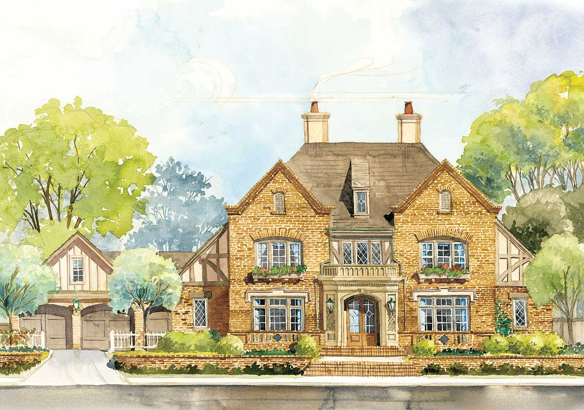 Classic english country home plan 56144ad for Classic house design