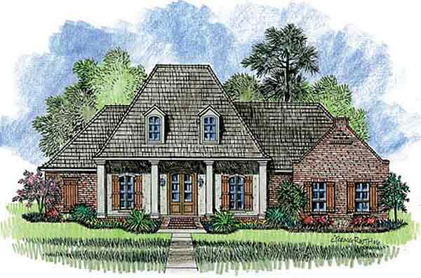 4 bedroom louisiana style home plan 56301sm 1st floor for Southern louisiana house plans