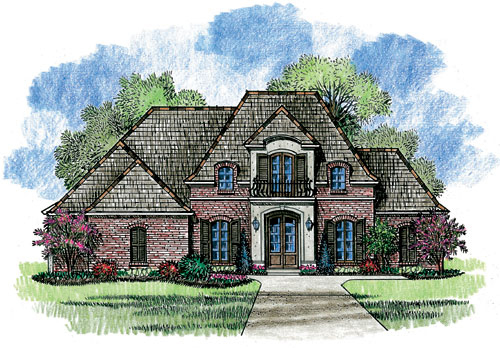 Louisiana inspired french country home plan 56302sm for Large french country house plans