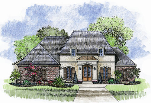 Large rear covered porch 56313sm 1st floor master for Large french country house plans