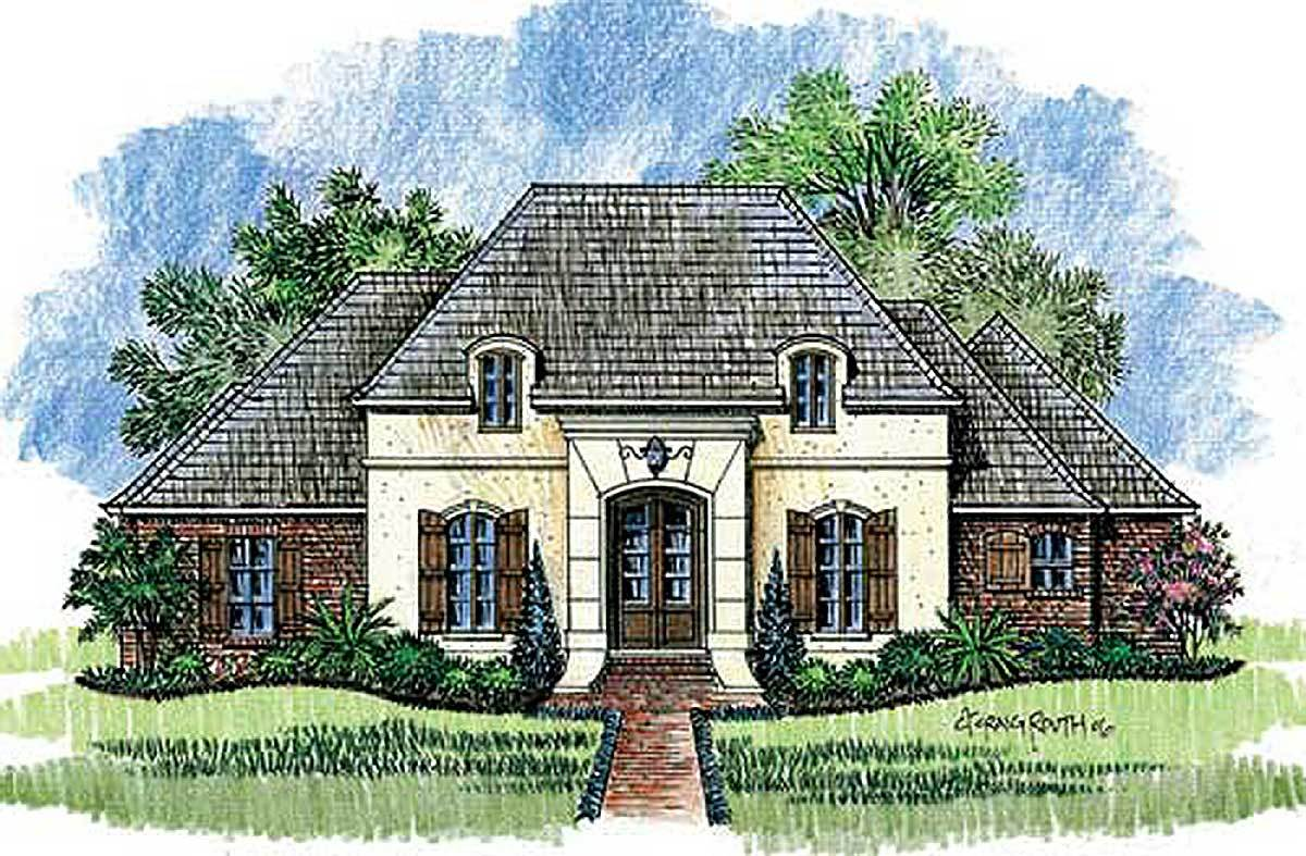 3 bed country french home plan 56318sm architectural for French home plans