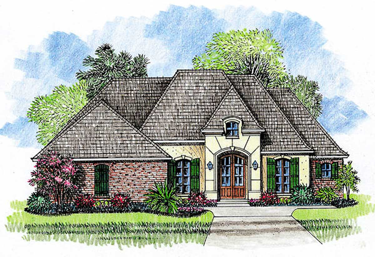 European style 56321sm architectural designs house plans for Garage ad abbeville