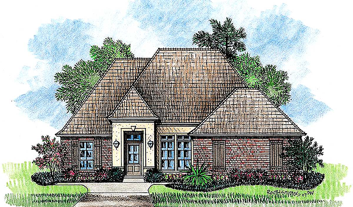 Old world exterior 56325sm architectural designs for Old world house plans