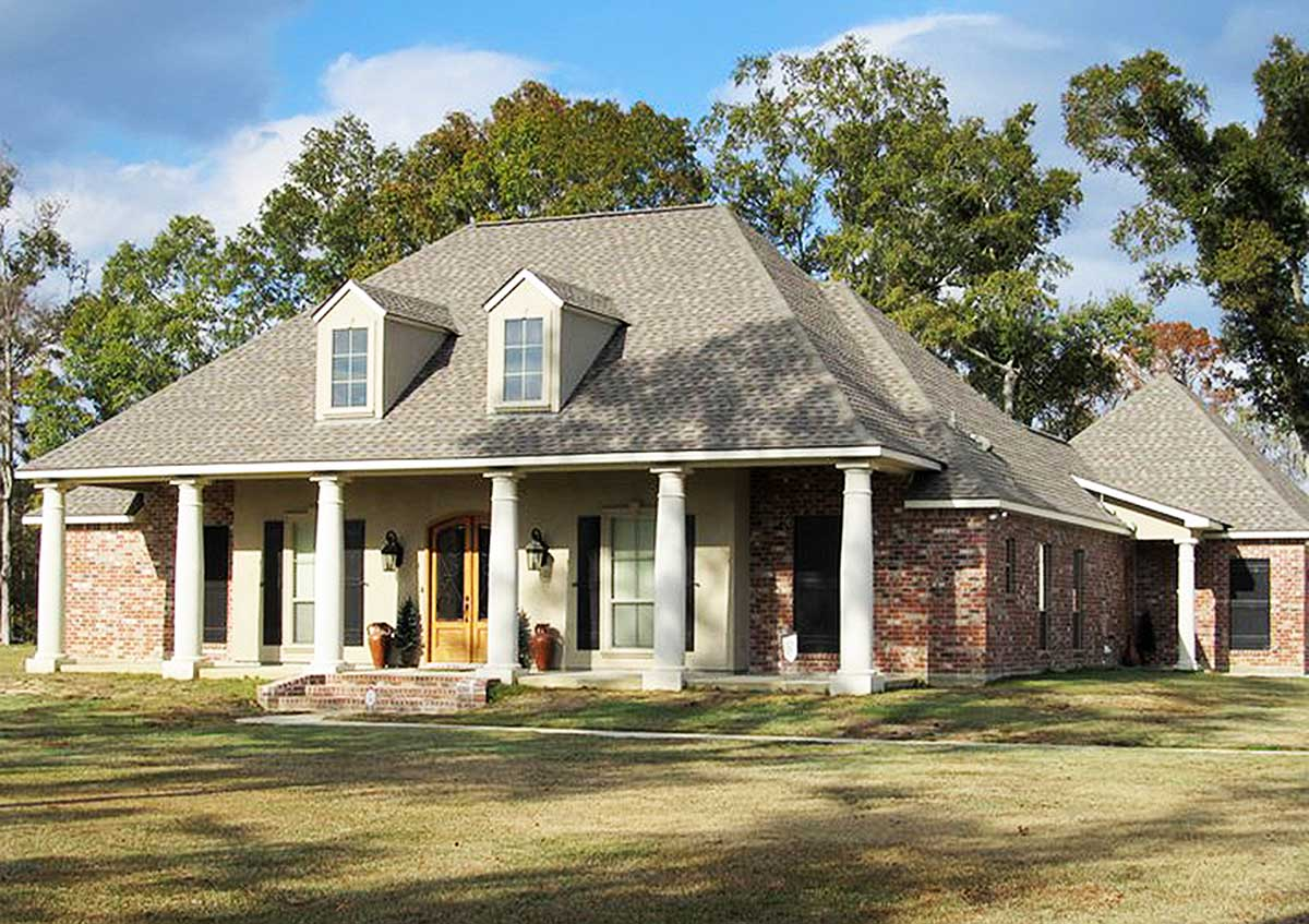 3 bed french acadian house plan 56327sm architectural for Designed home plans
