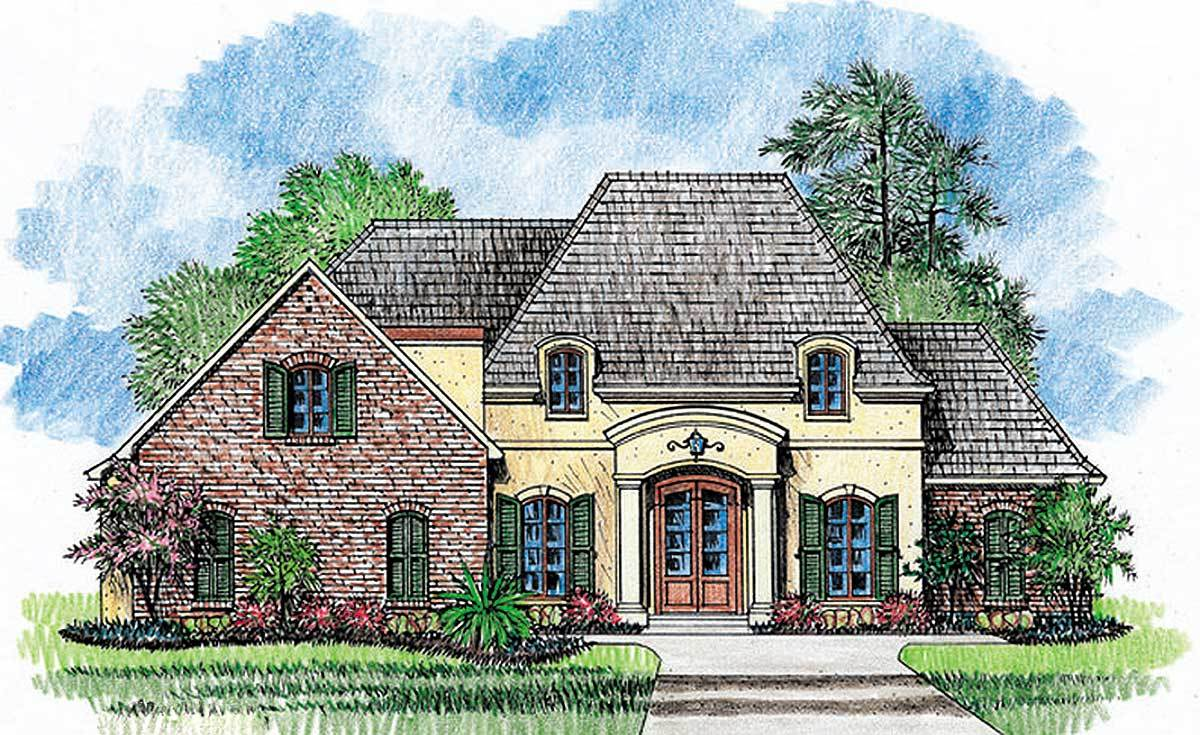 French country home plan with extras 56334sm for Large french country house plans