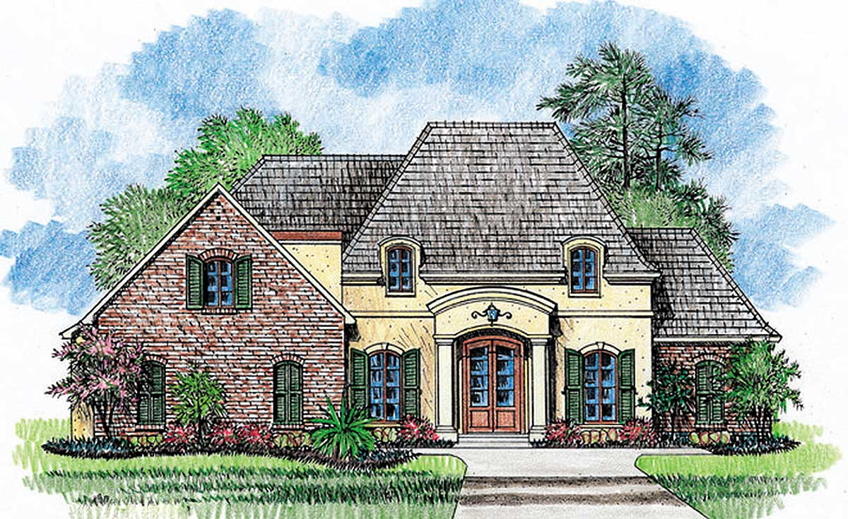 Country Home Designs: French Country Home Plan With Extras