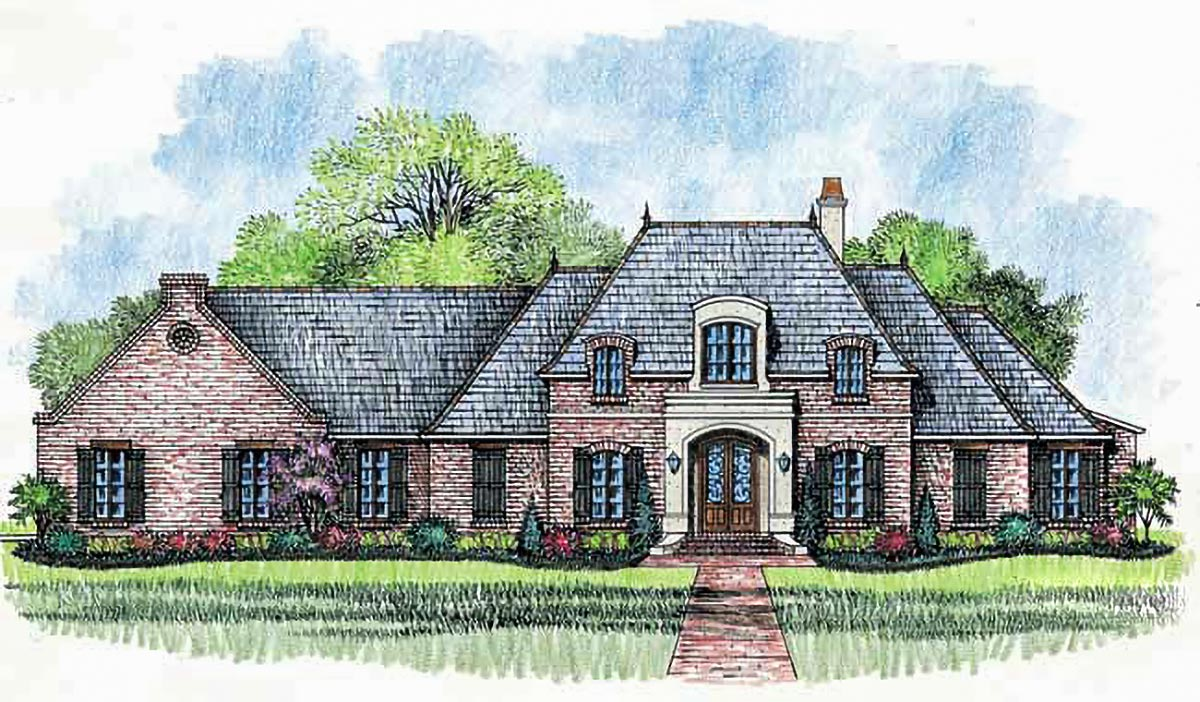 French Country Home Plan With Wide Open Spaces