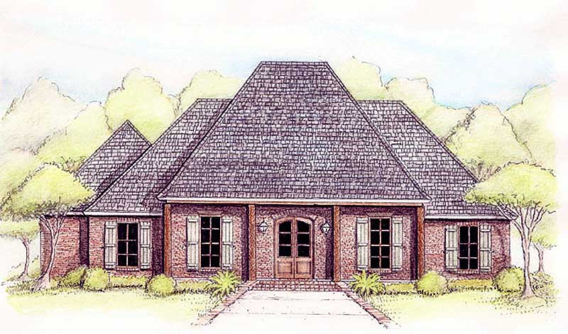 Compact french country home plan 56350sm 1st floor for 2 story acadian house plans