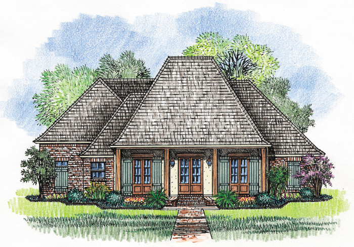 Separate guest wing 56353sm architectural designs for House plans with separate guest house