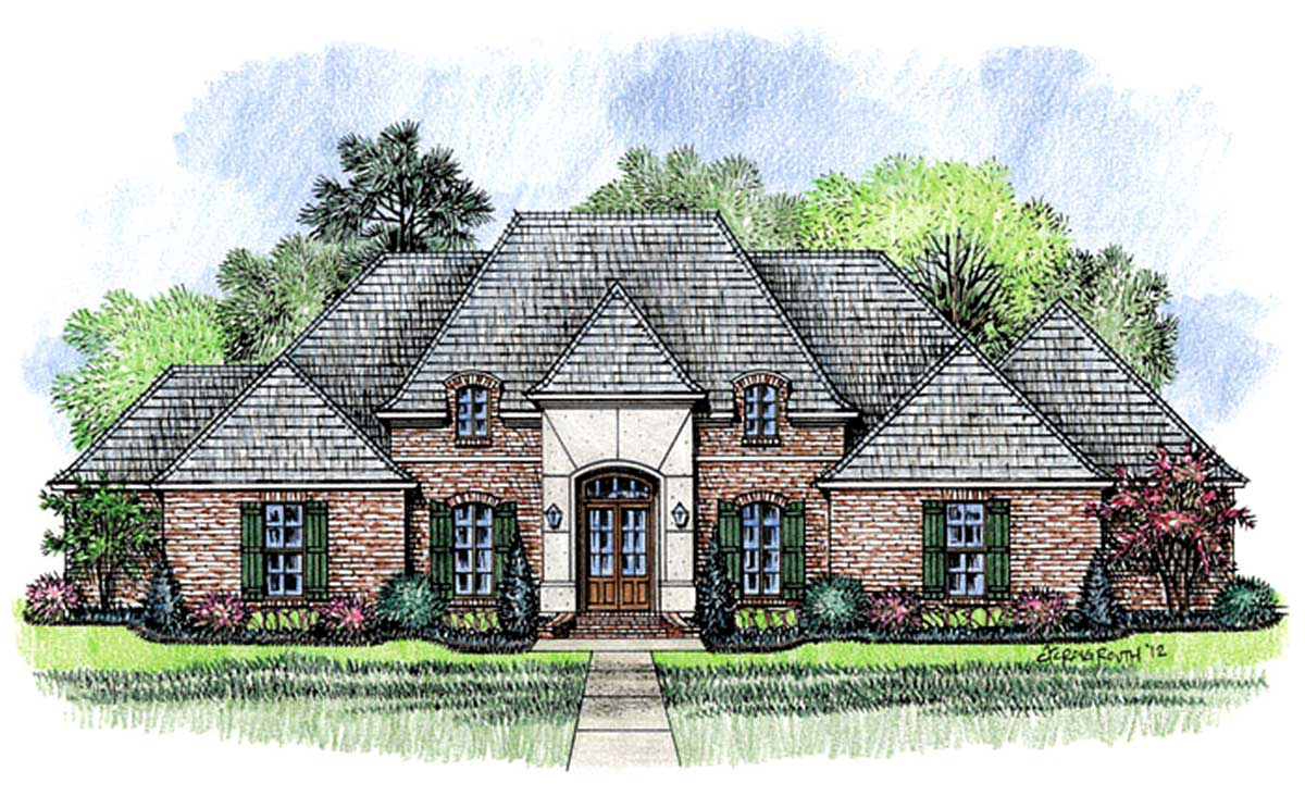 Regal french country home plan 56359sm architectural for French country house plans