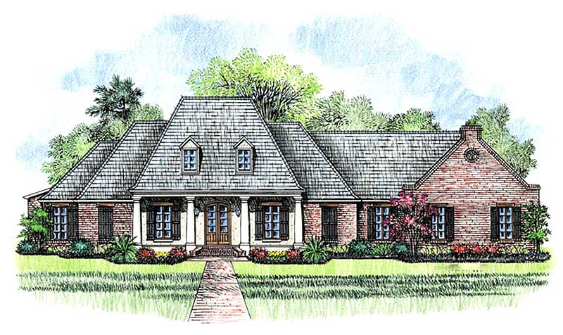 Luxurious french country home plan 56361sm 1st floor for French acadian house plans