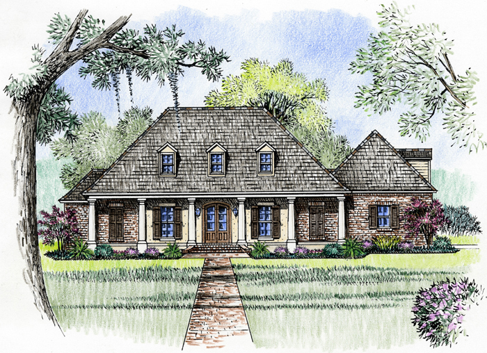 3 bedroom acadian home plan 56364sm acadian european for Southern french country house plans