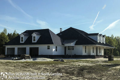 3 Bedroom Acadian Home Plan - 56364SM | Architectural Designs ... on