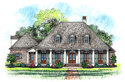 3 bedroom acadian home plan 56364sm architectural for Architecturaldesigns com house plan 56364sm asp