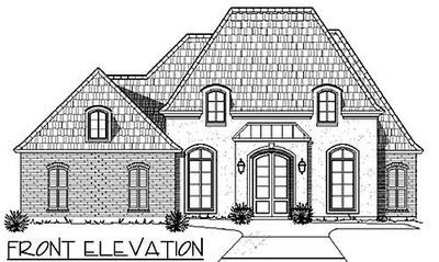 French Country House Plan with Master Hideaway - 56365SM thumb - 02