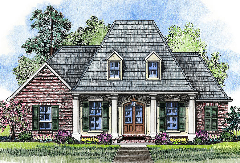 Homey and appealing acadian house plan 56371sm 1st for Southern french country house plans