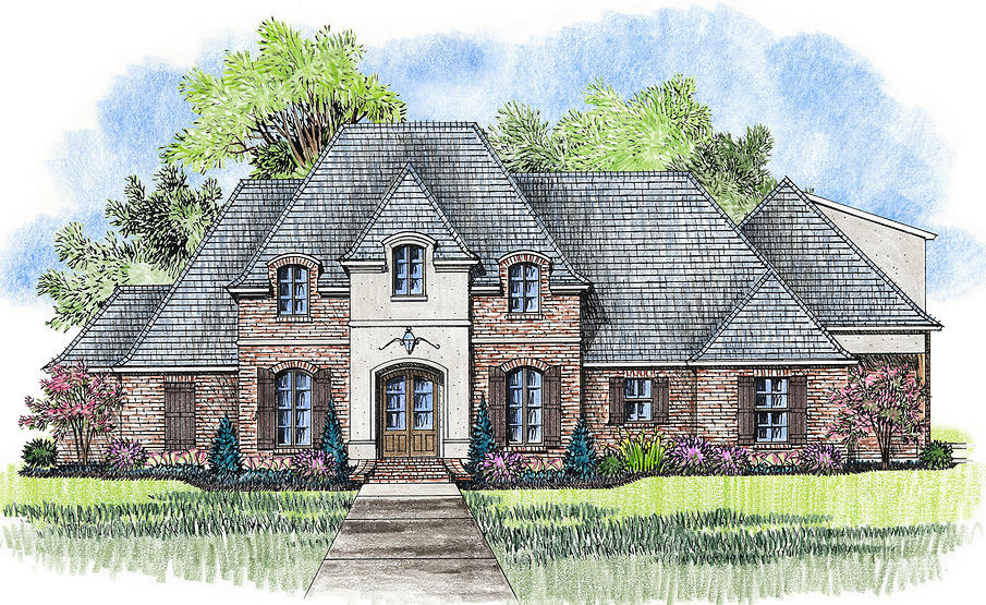4 bed acadian house plan with bonus room 56377sm for Acadian house plans with bonus room