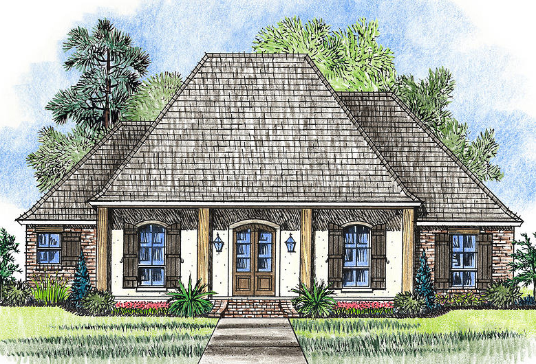 Rustic Acadian With 3 Bedrooms 56382sm Architectural