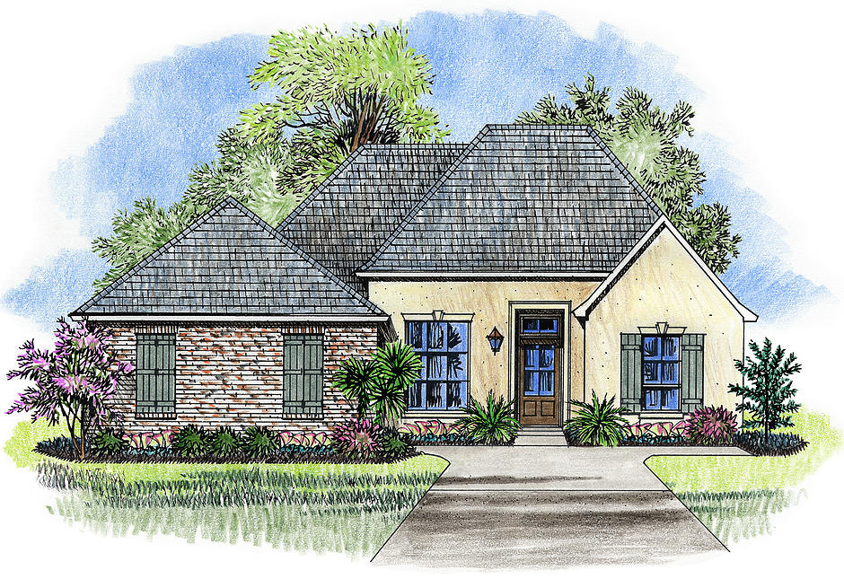 French country starter home plan 56388sm architectural for Starter house plans