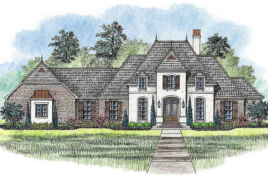 4 bed french country home plan 56390sm 1st floor for Large french country house plans