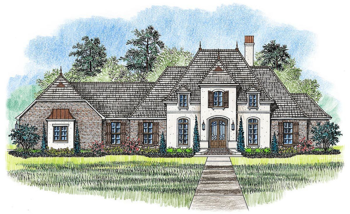 4 bed french country home plan 56390sm architectural for Large french country house plans
